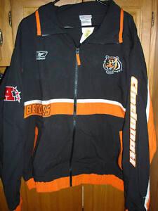 Cincinnati Bengals Men's Reebok Jacket 100% Cotton Size XXL NWTs!