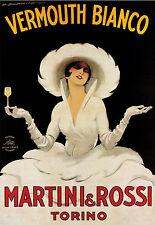 Marcello Dudovich Vermouth Bianco Martini and Rossi c. 1961 Print Poster 24X36