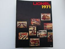 LIONEL TRAIN CATALOG 1971 VINTAGE POSTERS ON COVER FOLDOUT DETAILED SILVER STAR