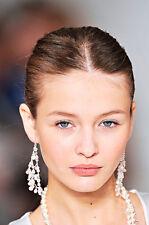ralph lauren runway collection chandelier earring pearl /crystals LAST PAIR