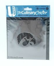 IOWA HAWKEYES MASCOT STENCIL CULINARY CRAFTING DECORATING COOKIES CAKE CUPCAKES
