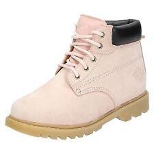 Mujer REBAJAS Truka Cuero Rosa Casual Para Trabajo Botines Con Cordones Zapatos