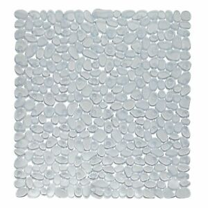 """Carnation Home Stall Size""""Pebbles"""" Vinyl Bath Mat in clear"""