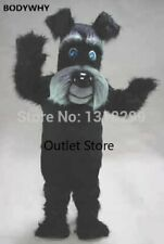 Easter Black Long Fur Dog Mascot Costume Fancy Dress Cosplay Party Carnival Xmas