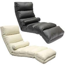 New Modern Black/Brown/Cream PU Folding Lounge Sofa Bed Floor Seat Chair Chaises