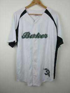 Team Baker 38 Baseball Jersey Adult Mens Size XL Team Work Athletic Apparel