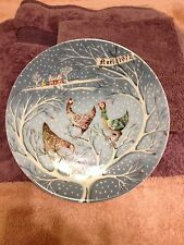 The Twelve Days of Christmas Original Plates Three French Hens Remy Hetreau