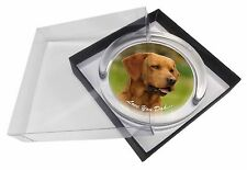 Fox Red Labrador 'Love You Dad' Glass Paperweight in Gift Box Christma, DAD-28PW