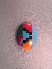 Southwest Intarsia Mosaic Gemstone 18x13mm Cabochon 1pc