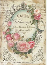 Papel De Arroz-Dance in paris Rojo-Para Decoupage Decopatch Scrapbook Craft