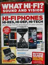 What Hi-Fi Sound & Vision August 2015 Hi-Fi Phones Projectors Blu-Rays Computer