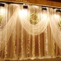 LED Lichtervorhang Weihnachtsbeleuchtung Lichterkette Licht Fenster Deko Party
