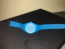 Pre-loved Unisex aqua blue/green with pink hands silcone band Ice watch