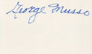 George Musso - Pro Football Hall of Fame, Chicago Bears - Autographed 3x5 Card