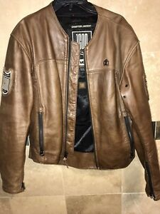"""ICON 1000 SERIES """"Chapter Jacket"""" Motorcycle Moto Brown Leather Mens M Medium"""