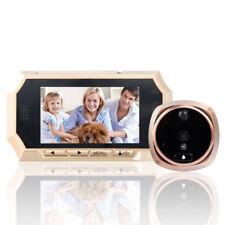 """4.3"""" Digital Peephole Door Viewer Wide Angle Doorbell Video Audio Color Camera"""