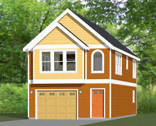 20x40 House -- 1 Bedroom 1.5 Bath -- 1,077 sq ft -- PDF Floor Plan -- Model 8D