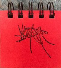 "Mosquito Wirebound Sticky Note Book 200 Sheets/Pocket/Purse 3.5""x3""x0.75&#0 34; L@K!"
