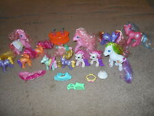 Large lot of 13 My Little Ponies +  Bonus Clothing and accessories