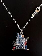 "Disney 20"" .925 Sterling Silver Necklace w/ Mickey, Goofy, Donald 2018 Charm NEW"