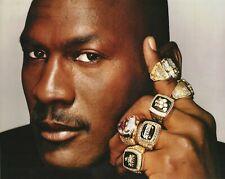 "Canvas Picture 8""x12"" Michael Jordan 6 Finals Rings - Basketball Sports Legend"