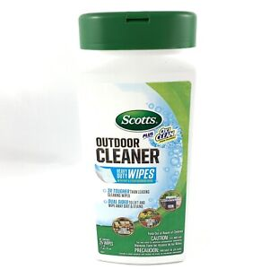 Scotts Plus Oxi Clean Heavy Duty Outdoor Wipes 25 Wipes Stain Fighting New