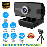 UK Full HD 1080P Webcam With Microphone USB For PC Desktop Laptop NEW