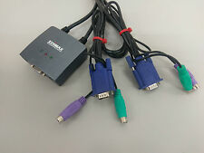 Edimax EK-PS2C - 2 Ports PS/2 Mini KVM with Cables