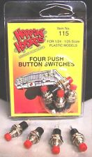Hoppin Hydros 4 Red Push Button Switches for Model Hydraulic Kit Hop & Dance