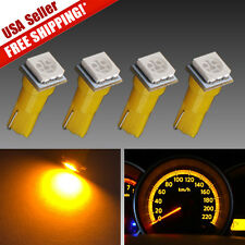 4X Amber Yellow T5 Wedge 1SMD Dashboard Instrument Panel LED Lights Bulbs 27 74