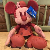 "Rare Red Denim Minnie Mouse Jeans Disneyland Resort Paris Tags 13.5 "" ( Marked )"