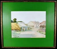 Art Deco Irish Watercolour Painting Signed S Cooley c1930s