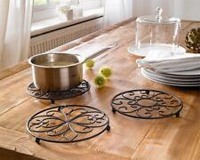 3er Set Untersetzer Topfuntersetzer Metall Küche Pfannenuntersetzer Küchendeko
