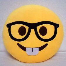 Cute Emoji Nerd Emoticon Pillow