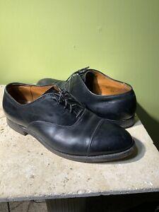 Alden Men's 907 Black Leather Cap Toe Dress USA Made Oxfords 10 B/D - Repair