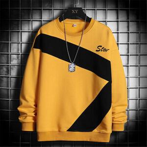Mens Fashion Sweater Workout Casual Running Coat Long Sleeve Sweatshirt