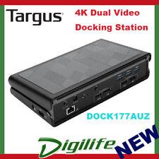 Targus USB 3.0 Dual Video 4K Docking Station with Power DOCK177AUZ