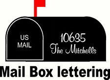 Mail Box Lettering, Personalized, 2 sets,  Vinyl Decal Stickers DIE CUT mailbox