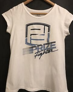 12 PRIZE FIGHTER SYDNEY Boxing Boxer Blue White Logo Top Tshirt Tee Light Use