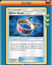 Pokemon TCG ONLINE x4 Choice Band 121/145 (DIGITAL CARD) Trainer Item