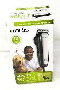 Andis EasyClip Select 12 Piece Kit Adjustable Clipper Pet Grooming Kit 6025