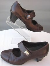 Munro American Size 7.5W Brown Leann Leather Pumps Mary Jane Worn Once!