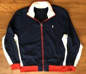 NWT POLO RALPH LAUREN BIG & TALL Men Soft Cotton Interlocking Navy Track Jacket