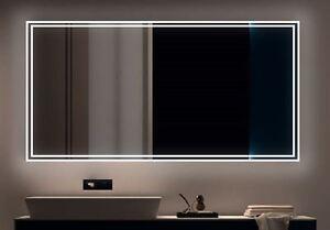 LED BAD SPIEGEL Badezimmerspiegel mit Beleuchtung Badspiegel Wandspiegel 020