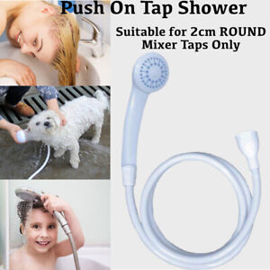 Push On Shower Hose And Head For Single Mixer Tap Bath Tap Kitchen Tap Spray