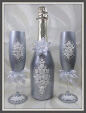 Sekt Hochzeitsgläser - Geschenkidee Geschenk Silber.