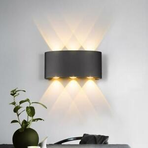 Modern Nordic LED Up Down Wall Light Sconce IP65 Waterproof Indoor Outdoor Lamp