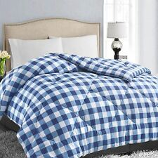 EASELAND All Season Twin Size Soft Quilted Down Alternative Comforter Reversible