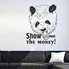 I193 Wall Decal Sticker panda money black humor animal graffiti street style