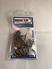 4/0 Hook'em Pro Series Baitholder Fishing Hooks Chemically Sharpened 20PCS